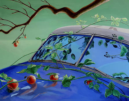 Still Life with Car by Sally Banfill