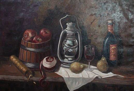 Still life with coffeegrinder  by Charalampos Laskaris