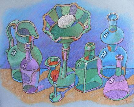 Still life with glass ware by Igor Kir