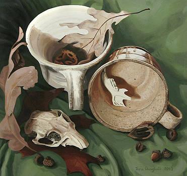 Still Life with Gopher Skull by Lena Quagliato