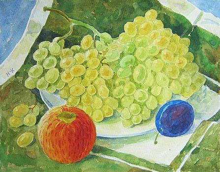 Still life with grapes by Igor Kir