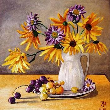 Still life with grapes by Nina Mitkova