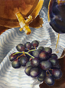 Still life with grapes by Pablo Rivera