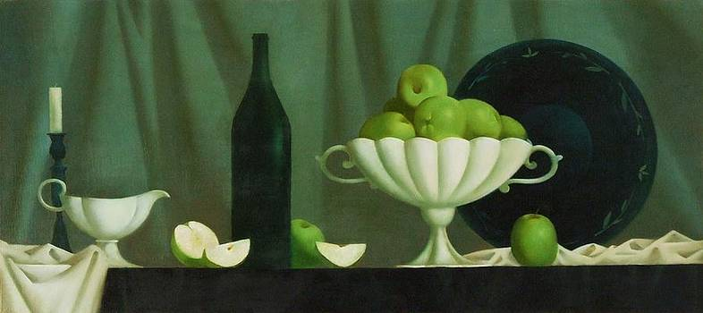 Still Life With Green Apples by Nadia Egorova