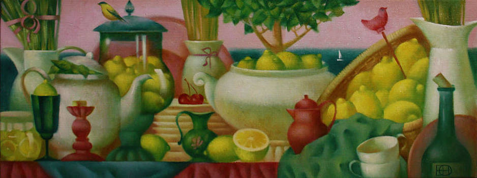 Still Life With Lemons by Nadia Egorova