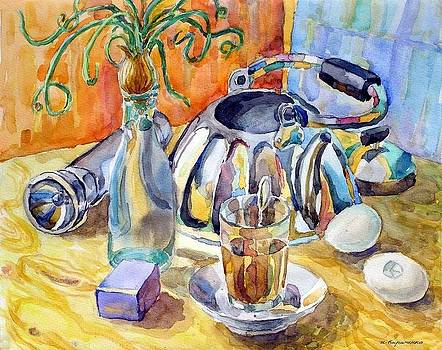 Still life with onions by Igor Kir