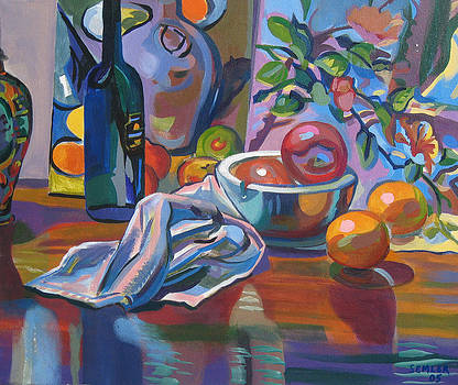 Still Life with Oranges by Clyde Semler