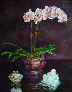 Still Life With Orchids by Anees Peterman