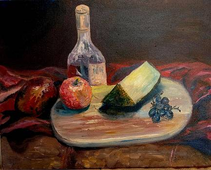 Irene Pomirchy - Still life with papaya