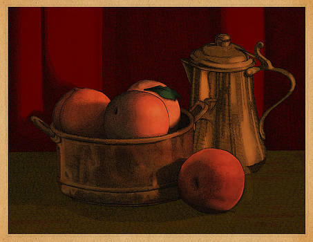 Still Life with Peaches by Meg Shearer