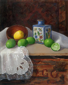 Still Life with Persian Vase by Mary Phelps