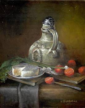 Still life with pitcher by Victor Mordasov
