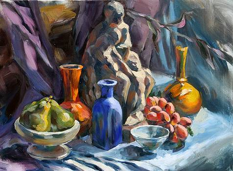 Still Life with sculpture by Olusha Permiakoff