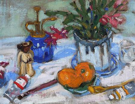Still life with tangerines by Owen Hunt