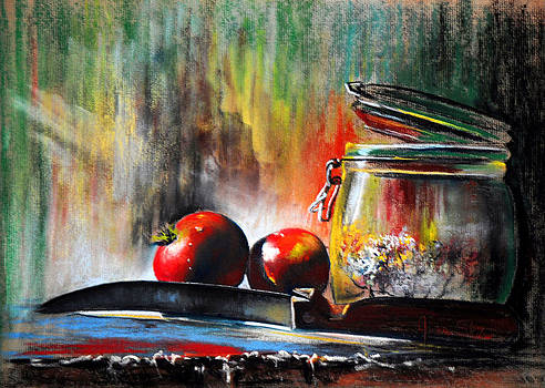 Still Life With Tomatoes by James Skiles