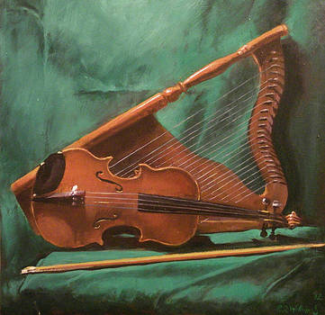 Still Life with Viola and Harp by Robert Dale Williams