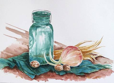 Still Life with Walnuts by Renee Goularte