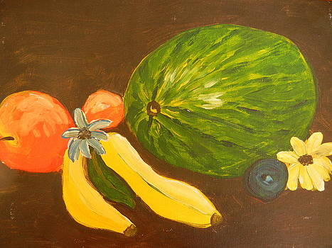 Still Life with Watermelon by Suzanne Buckland
