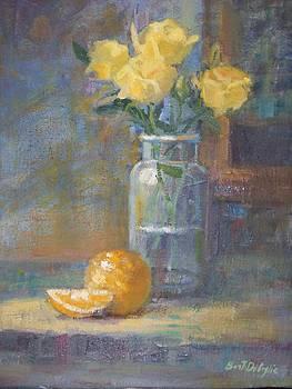 Still life. Yellow roses by Bart DeCeglie