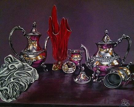 Still red glass by Annette Jimerson