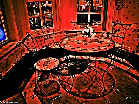 Still waiting in the red room by Kornrawiee Miu Miu