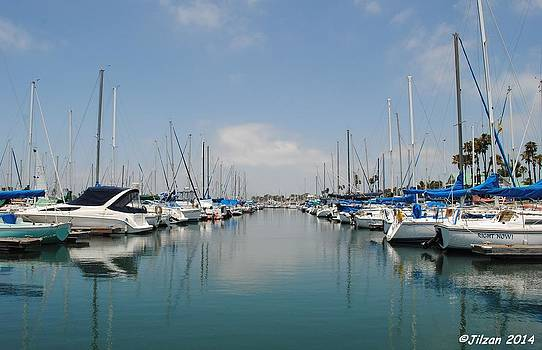 Still Water in Long Beach Marina by Jill Baum