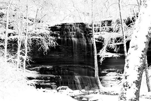 Stillhouse Hollow Falls Winter by Jim Johnson
