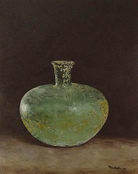 Stillife Green Vase... by Erna Goudbeek