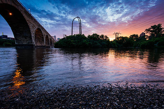Stone Arch Bridge From Below by Christopher Broste