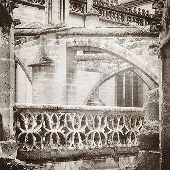 Angela Bonilla - Stone Church Arches in Sepia