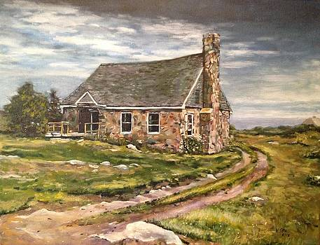 Stone Cottage at Star Island NH by Victor SOTO