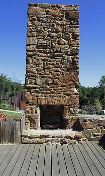 Stone Fireplace by Renee Braun