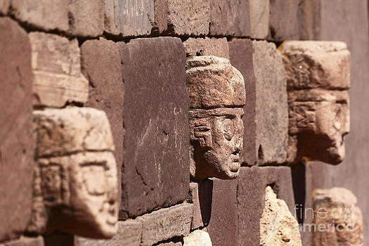 James Brunker - Stone Heads at Tiahuanaco