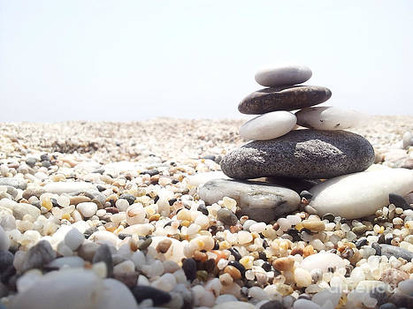 Stones On The Beach by Stefano Piccini