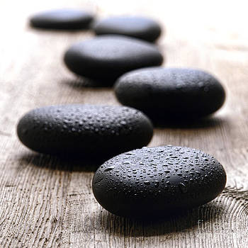 Stones on Wood by Olivier Le Queinec