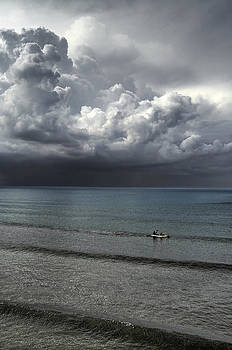 Storm and Canoeists by Tony Partington