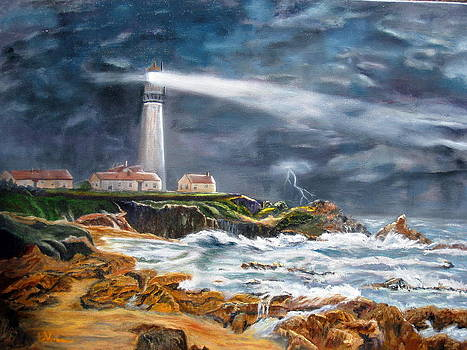 Storm at Pigeon Point by LaVonne Hand