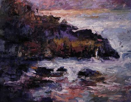 Storm at Pismo Beach by R W Goetting