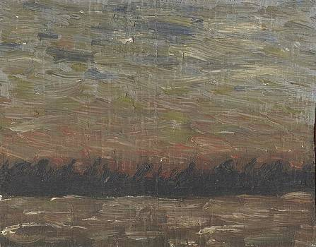 Storm at Sunset by David Dossett