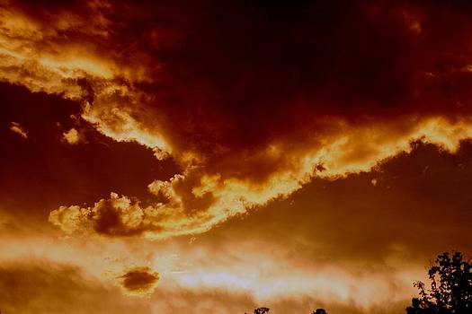 Storm Cloud at Sunset by Beth Andersen