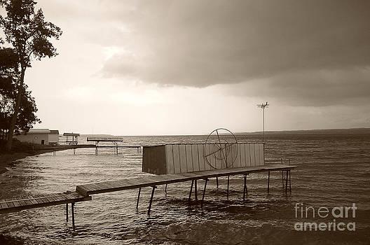 Storm clouds on Cayuga Lake 2013 by Joseph Duba