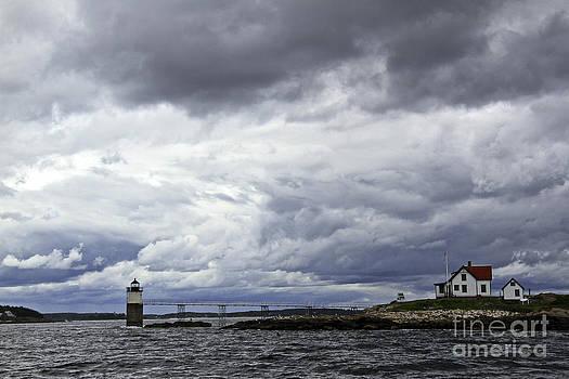 Brenda Giasson - Storm Clouds Ram Island Lighthouse