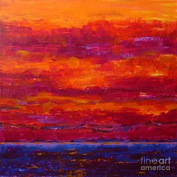 Storm Clouds Sunset by Gail Kent