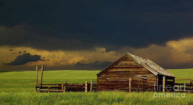 Storm Crossing Prairie 2 by Robert Frederick