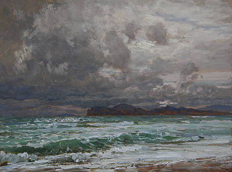 Storm on Black sea by Korobkin Anatoly