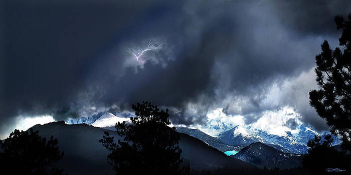 Storm on Long's Peak by Ric Soulen