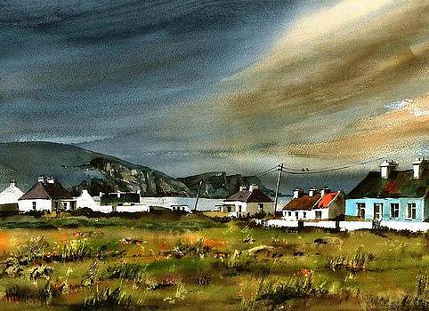 Val Byrne - Storm over Keel Achill  Mayo