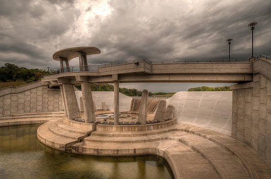 Storm over the dam by Clay Swatzell