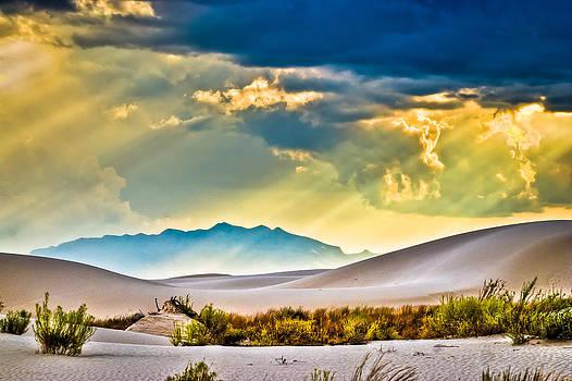 Storm over White Sands by Helene Kobelnyk