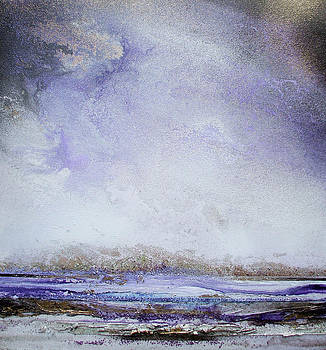 Storms Druridge Bay no5 purple by Mike   Bell